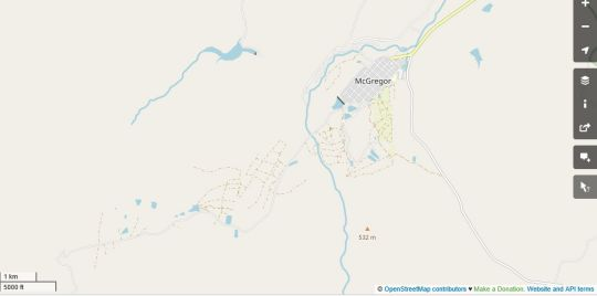 Map Whipstock Guest Farm in McGregor  Breede River Valley  Western Cape  South Africa