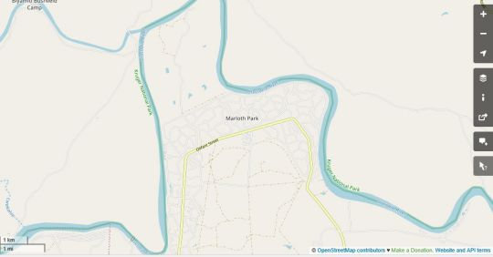 Map Jackalberry Creek in Marloth Park  Kruger National Park (MP)  Mpumalanga  South Africa