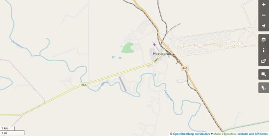 Map Wild Dog Inn, Hoedspruit in Hoedspruit  Valley of the Olifants  Limpopo  South Africa