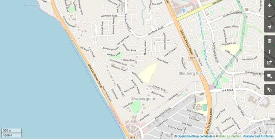 Map Ocean View A201B in Bloubergstrand  Blaauwberg  Cape Town  Western Cape  South Africa