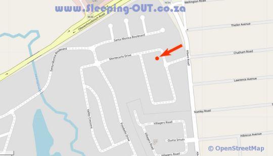 Map Centurion Golf Suites Monte Carlo Drive in Centurion Central  Centurion  Pretoria / Tshwane  Gauteng  South Africa