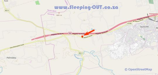 Map Rocky Hollow in Pretoria West  Pretoria / Tshwane  Gauteng  South Africa