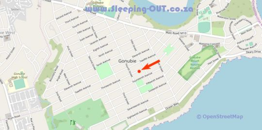 Map GONUBIE - Sondelani Self Catering Apartments  in Gonubie  East London  Amatole  Eastern Cape  South Africa