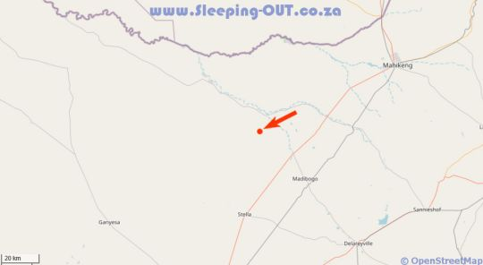 Map Makgoro Lodge in Stella  Bophirima  North West  South Africa