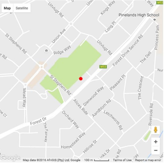 Map 51 on Forest Drive in Pinelands  Southern Suburbs (CPT)  Cape Town  Western Cape  South Africa