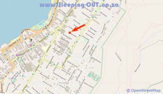 Map Pineapple House Boutique Hotel in Sea Point  Atlantic Seaboard  Cape Town  Western Cape  South Africa