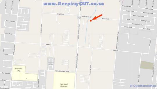 Map Batter Boys Guesthouse in Montana (PTA)  Pretoria North  Pretoria / Tshwane  Gauteng  South Africa