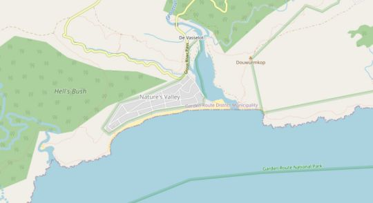 Map Entre Mer et Fôret Beach House in Plettenberg Bay  Garden Route  Western Cape  Suid-Afrika