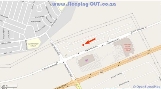Map Jubies Guest Lodge in Vereeniging  Sedibeng District  Gauteng  South Africa