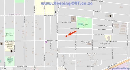 Map Meadowbrook Accommodation in Moregloed  Moot  Pretoria / Tshwane  Gauteng  South Africa