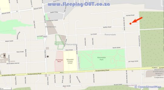 Map Buffels Place in Rietondale  Moot  Pretoria / Tshwane  Gauteng  South Africa