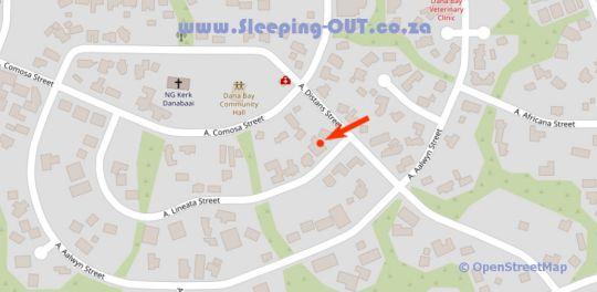 Map JoJo\'s BnB in Dana Bay  Garden Route  Western Cape  South Africa