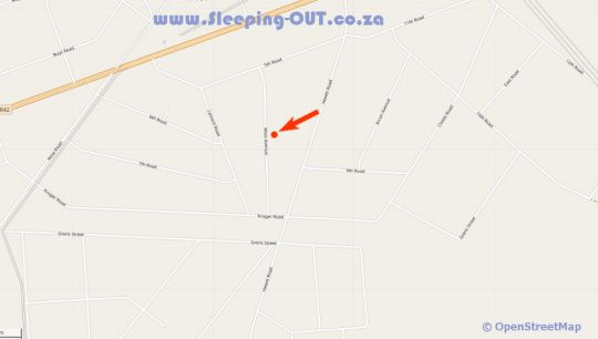 Map House Cottage and Contractors Manor in Meyerton  Sedibeng District  Gauteng  South Africa
