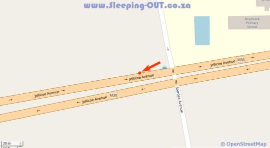 Map The Residency Jellicoe in Rosebank (JHB)  Northcliff/Rosebank  Johannesburg  Gauteng  South Africa