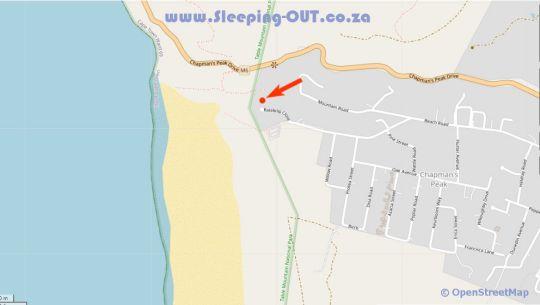 Map Cape Beach Villa in Noordhoek  False Bay  Cape Town  Western Cape  South Africa
