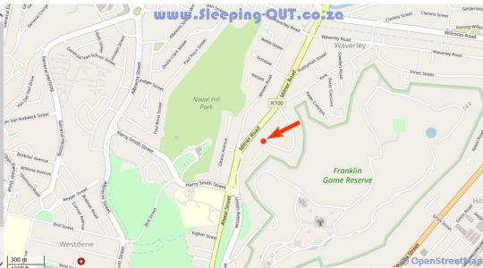 Map BoutiqueMilner in Bloemfontein  Mangaung  Free State  South Africa