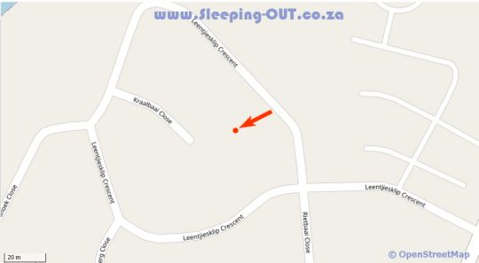 Map St Louis Self Catering in Langebaan  West Coast (WC)  Western Cape  Südafrika
