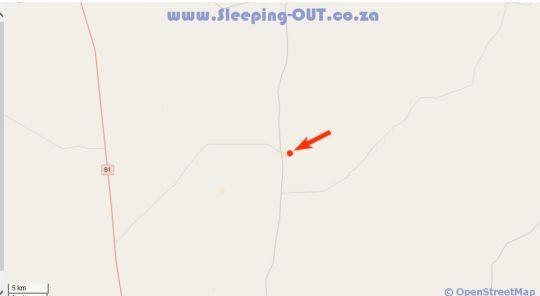 Map Farmstay Okakeua in Okahandja  Otjozondijupa  Namibia