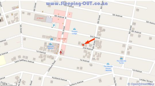 Map BeMyGuest Bed Book  Breakfast in Melville (JHB)  Northcliff/Rosebank  Johannesburg  Gauteng  South Africa