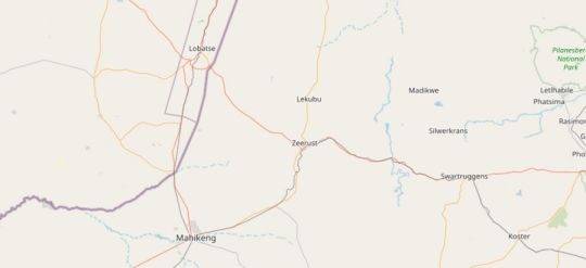 Map Africa Unplugged Guest Lodge in Zeerust  Central (NW)  North West  South Africa