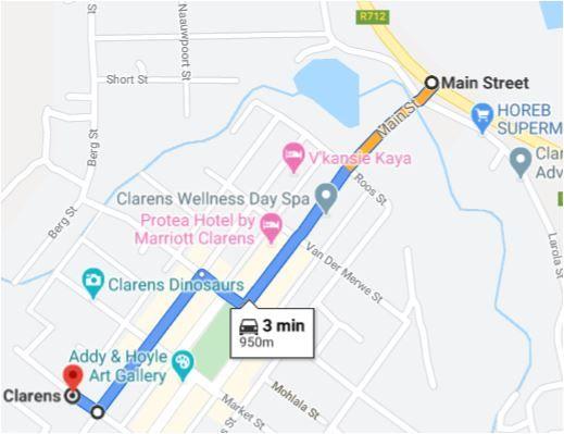 Map Khaya Clarens in Clarens  Thabo Mofutsanyana  Free State  South Africa