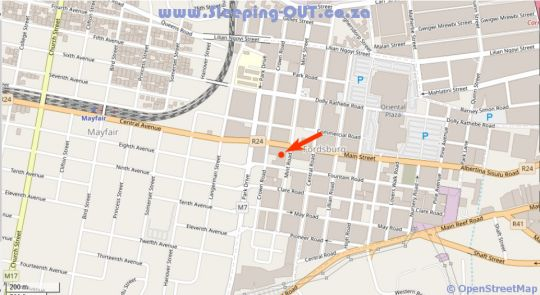 Map Alcazaba Lodges in Fordsburg  Johannesburg CBD  Johannesburg  Gauteng  South Africa
