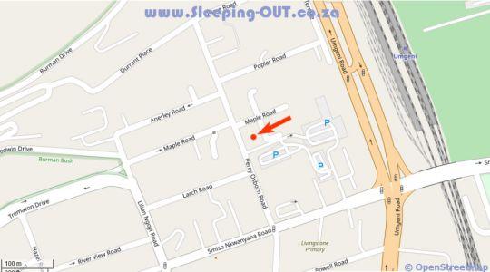 Map Royal Ushaka Hotel  Morningside in Morningside (DBN)  Durban  Durban and Surrounds  KwaZulu Natal  South Africa