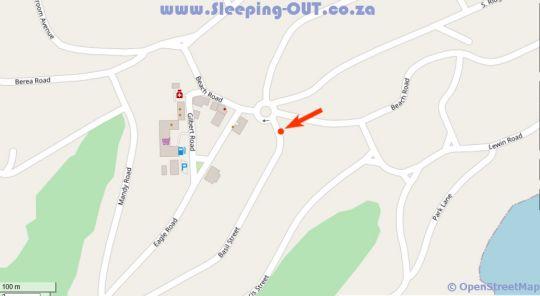 Map Namaste Sea View Studio in Southbroom in Southbroom  South Coast (KZN)  KwaZulu Natal  South Africa