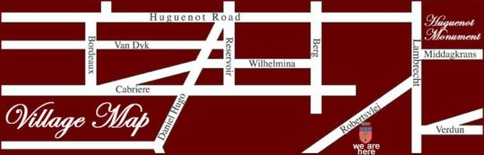 Map Auberge Clermont in Franschhoek  Cape Winelands  Western Cape  South Africa