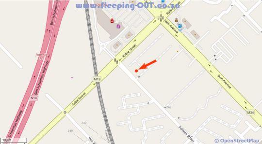 Map 87 El devino in Die Hoewes  Centurion  Pretoria / Tshwane  Gauteng  Südafrika