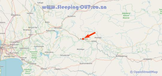 Map MOLENHUIS Accommodation in Robertson  Breede River Valley  Western Cape  South Africa