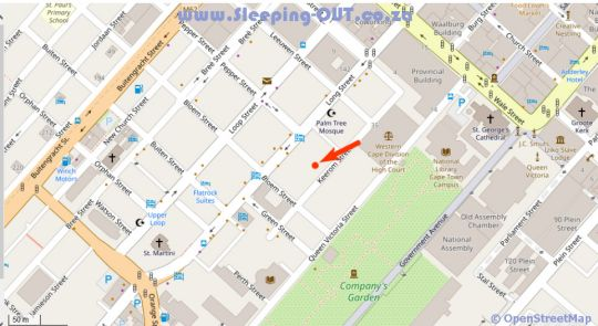 Map 403 Tuynhuys in Cape Town CBD  City Bowl  Cape Town  Western Cape  South Africa