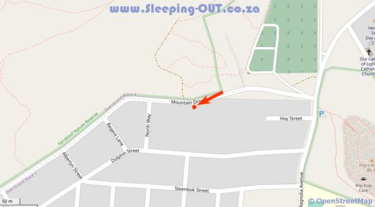 Map Ridge House in Hermanus  Overberg  Western Cape  Suid-Afrika