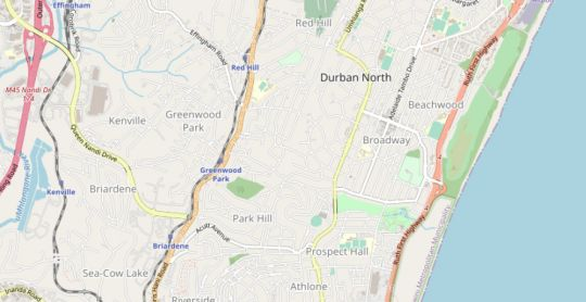 Map Lizzie\'s Garden Cottage in Durban North  Northern Suburbs (DBN)  Durban and Surrounds  KwaZulu Natal  South Africa