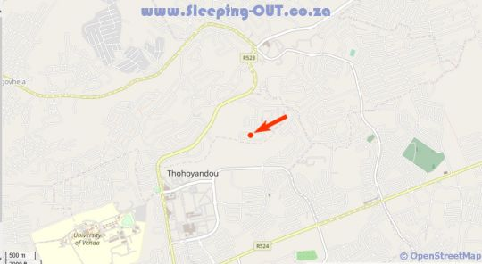 Map Royal Hills Lodge and Spa in Thohoyandou-G  Thohoyandou  Soutpansberg  Limpopo  South Africa
