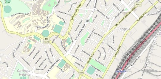 Map Frere Hill in Glenwood  Durban  Durban and Surrounds  KwaZulu Natal  South Africa