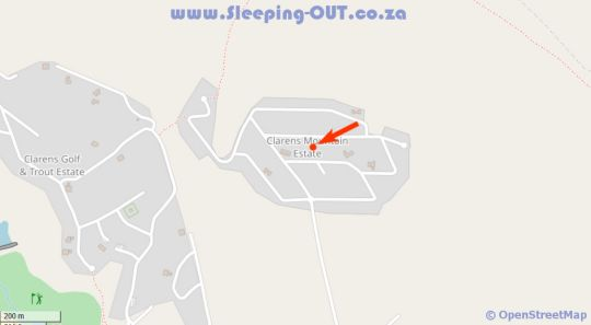 Map Cute and Quirky Clarens in Clarens  Thabo Mofutsanyana  Free State  South Africa