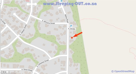 Map House Malva Guesthouse in Dana Bay  Garden Route  Western Cape  South Africa