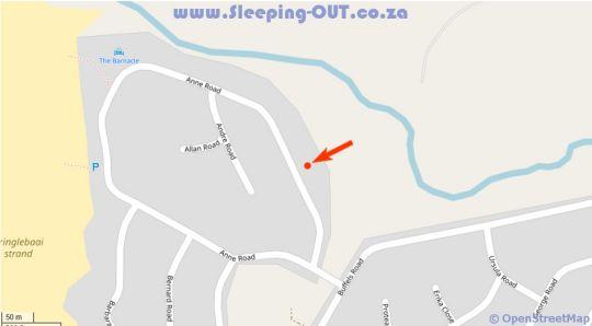 Map Gogo\'s Garden in Pringle Bay  Overberg  Western Cape  South Africa