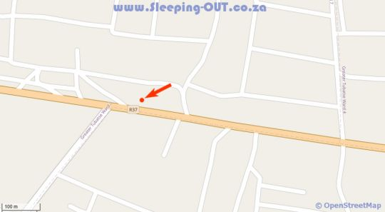 Map Kgakgamela Road Lodge in Burgersfort  Lowveld  Mpumalanga  South Africa