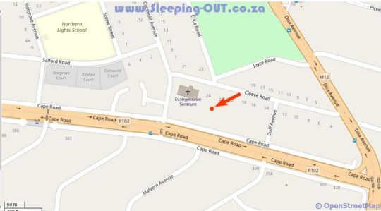 Map Cashmere Suites in Cotswold  Port Elizabeth  Cacadu (Sarah Baartman)  Eastern Cape  South Africa