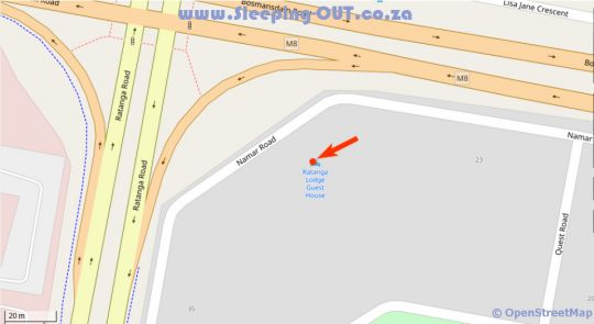 Map The Bohemian Guesthouse in Century City  Blaauwberg  Cape Town  Western Cape  South Africa