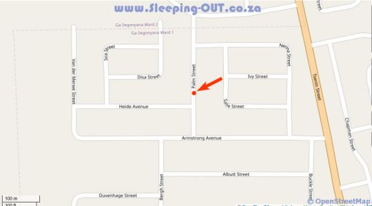 Map PabLove Guest House in Kuruman  Kalahari  Northern Cape  South Africa