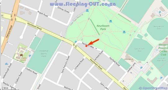 Map Squirrels Way Cottages in Newlands (CPT)  Southern Suburbs (CPT)  Cape Town  Western Cape  South Africa