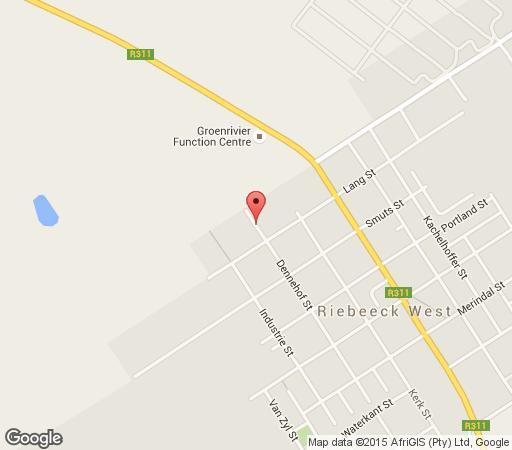 Map Riebeek Valley Hotel in Riebeek West  Cape Winelands  Western Cape  South Africa