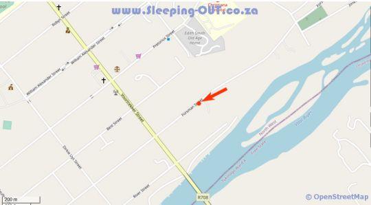Map Vaal De Vue 68 Forsman Street in Christiana  Diamond Fields  Northern Cape  South Africa