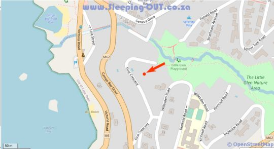 Map Villa on 1st Crescent in Camps Bay  Atlantic Seaboard  Cape Town  Western Cape  South Africa