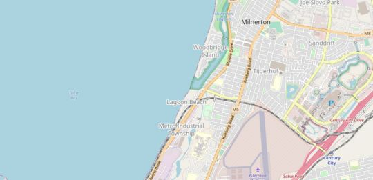 Map Lagoon Beach 235 in Milnerton  Blaauwberg  Cape Town  Western Cape  South Africa