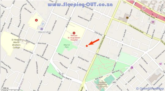 Map Roseland House Self Catering in Berea (DBN)  Durban  Durban and Surrounds  KwaZulu Natal  South Africa