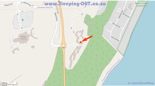 Map Luxury Apartment near the Airport with Sea View in Hillhead  North Coast (KZN)  KwaZulu Natal  Zuid-Afrika